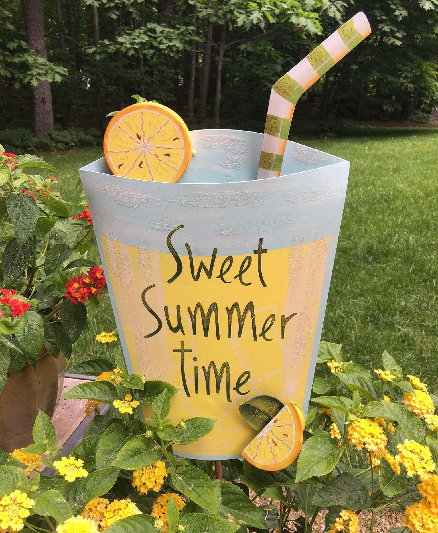 Lemonade Tin Sign & Yard Stake