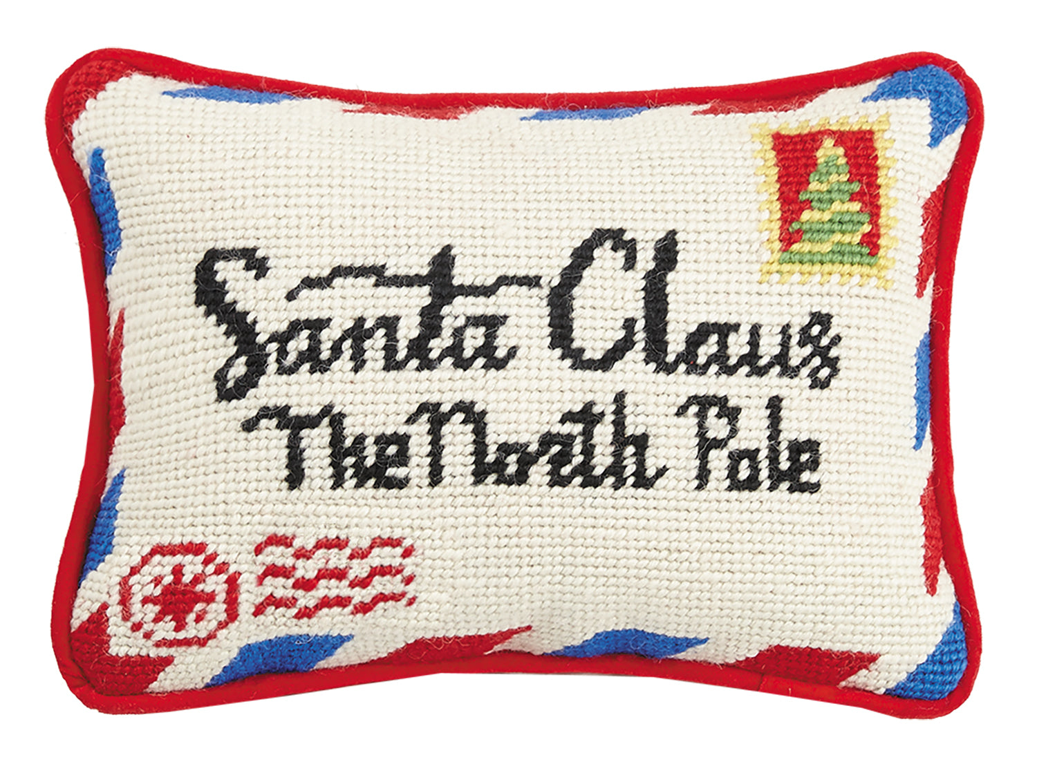 Letter to Santa Needlepoint Pillow