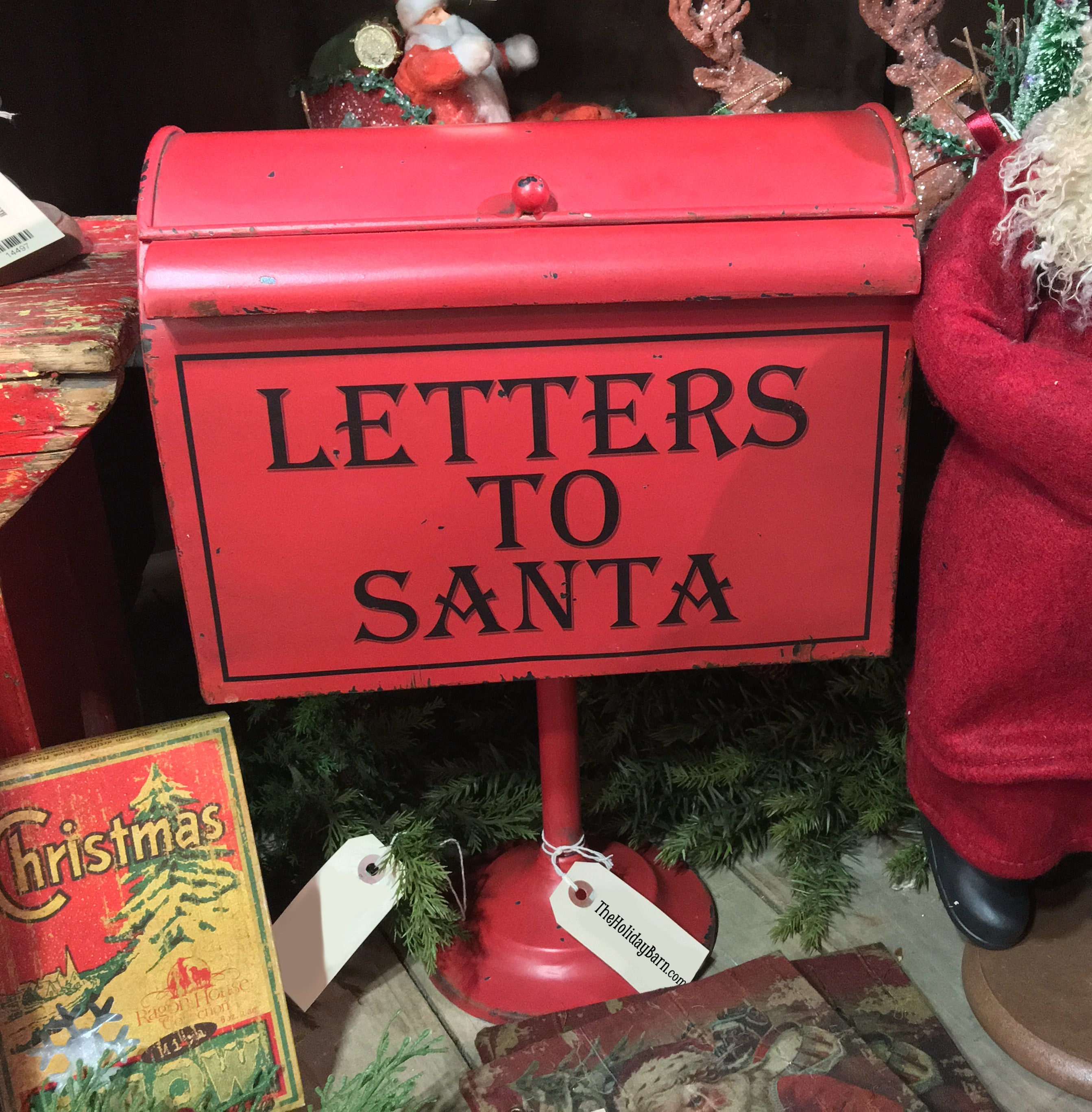 Letters to Santa Mailbox on Pedestal