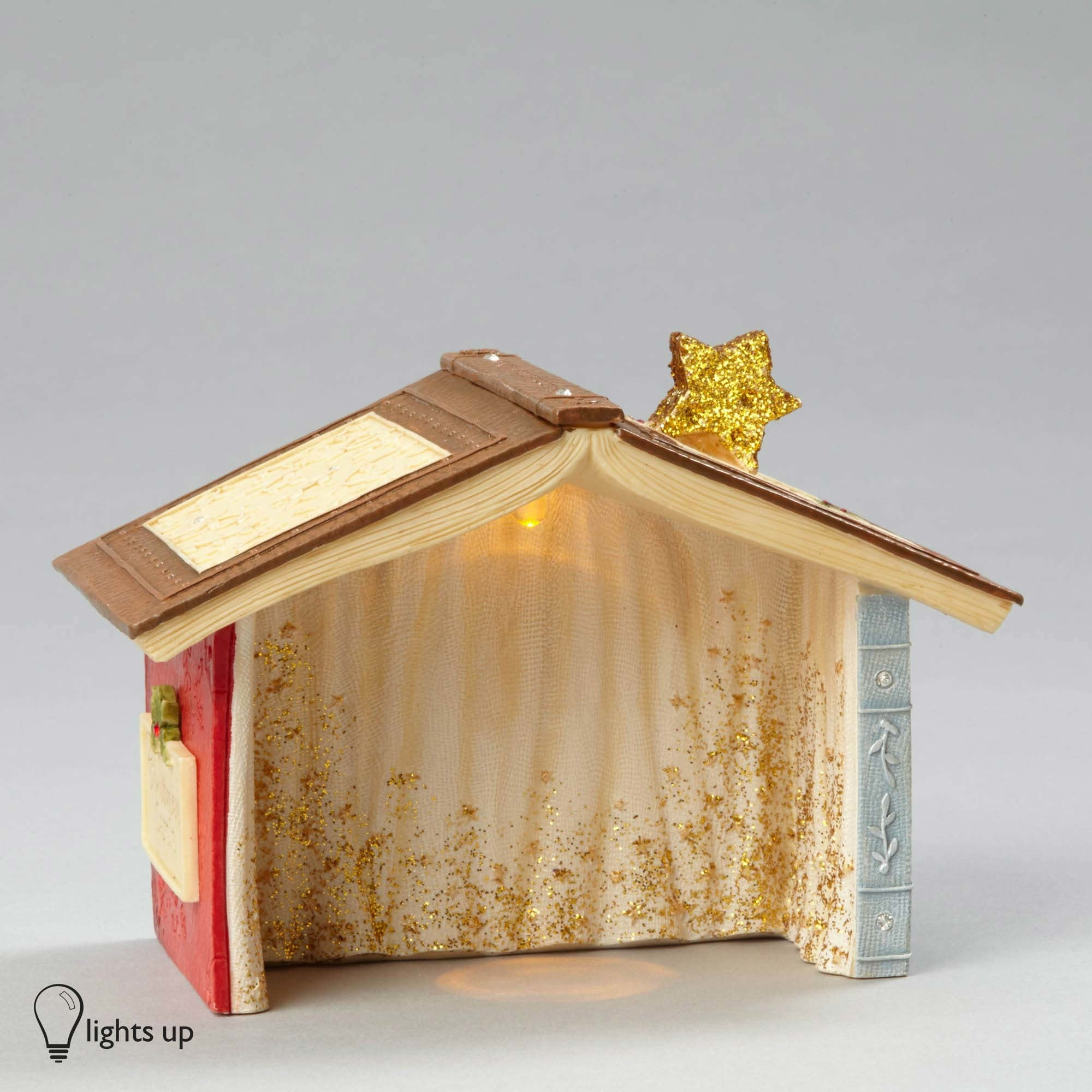 Lighted Nativity Creche for Mice