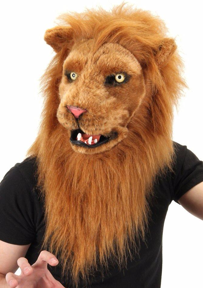 Lion Mask with Moving Mouth - Halloween Costume