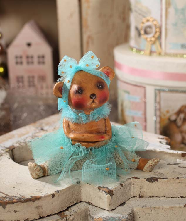 Little Miss Pouty Bear Ballerina Figurine