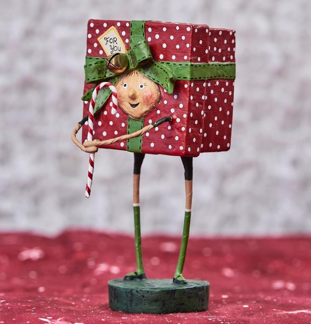 Lori Mitchell All Wrapped Up Gift Girl Figurine
