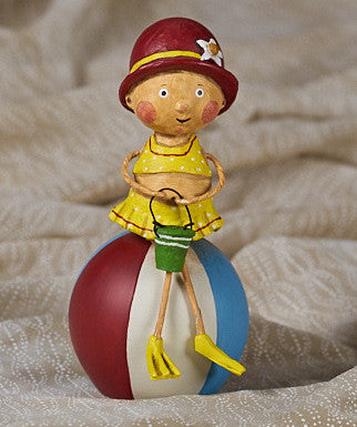 Lori Mitchell Bessie's Beach Ball Figurine