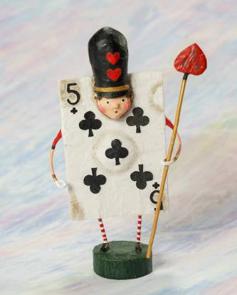 Lori Mitchell Five of Clubs Figurine
