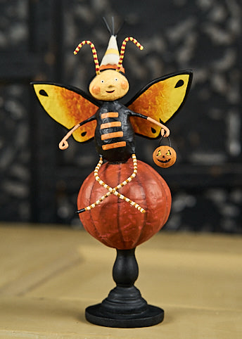 Lori Mitchell Flitter Flatter Butterfly on Pumpkin Figurine