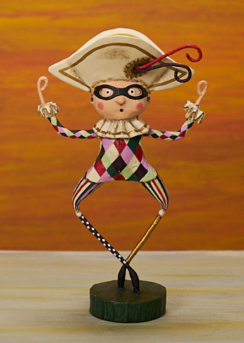 Lori Mitchell Nutcracker Ballet Harlequin Figurines