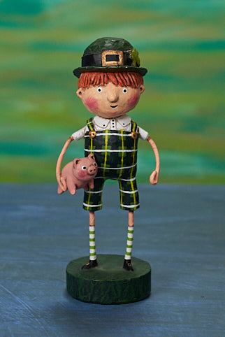 Lori Mitchell Paddy's O'Swine Figurine - Boy with Pig