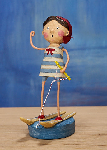 Lori Mitchell Ski Babe Girl Waterskiing Figurine
