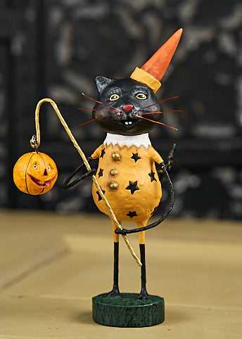 Lori Mitchell Smitten Kitten Figurine - Black Cat in Costume