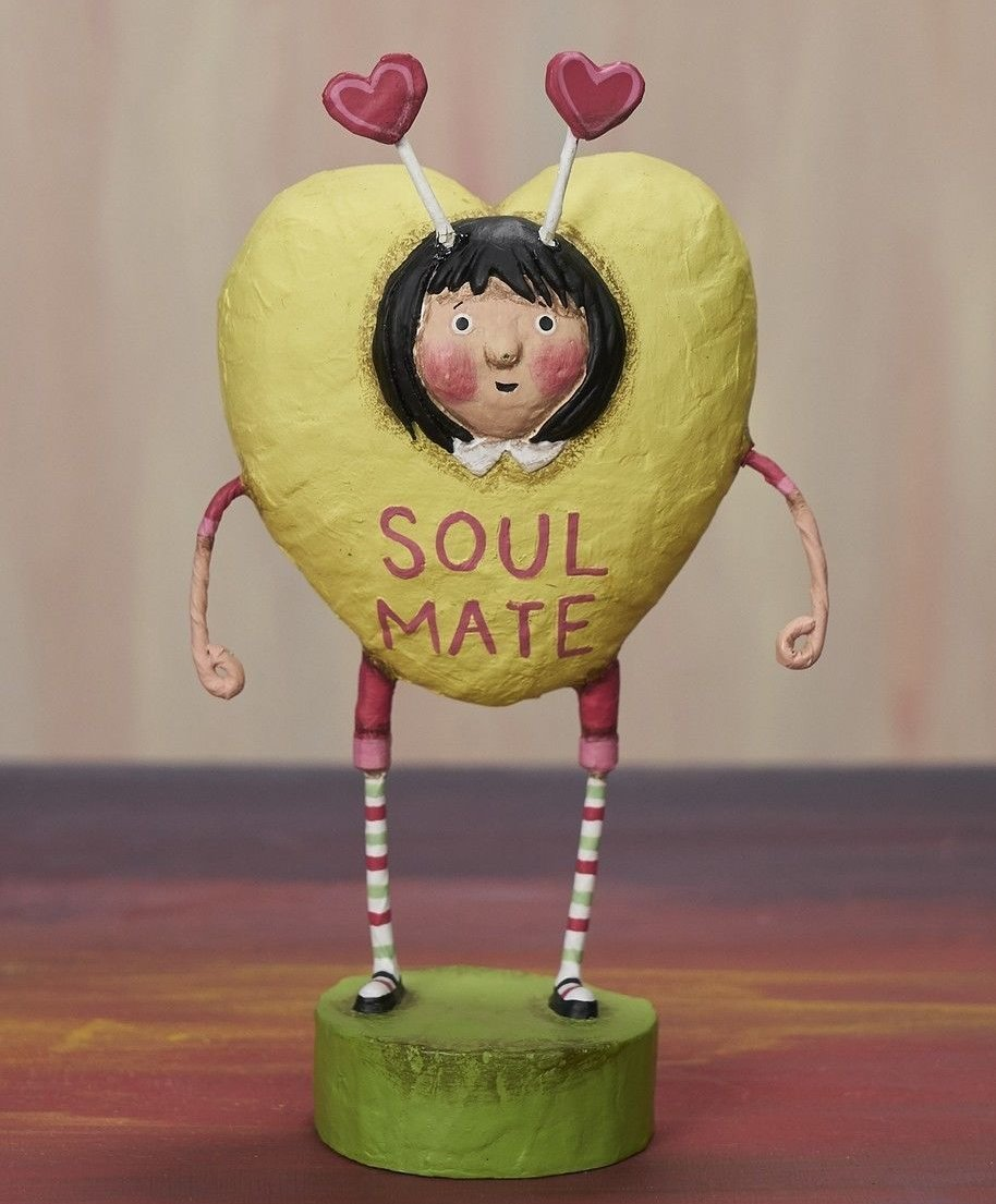 Lori Mitchell Soul Mate Candy Heart Girl - Valentine Figurine