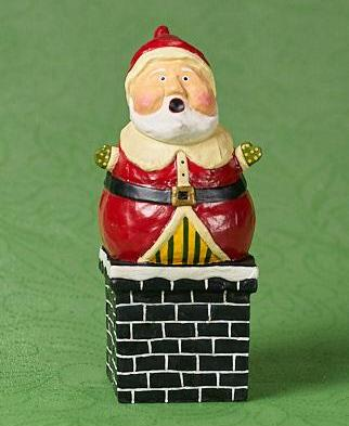 Lori Mitchell Tight Squeeze Santa in Chimney
