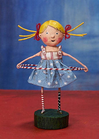Lori Mitchell Twist & Shout Figurine - Girl with Hula Hoop