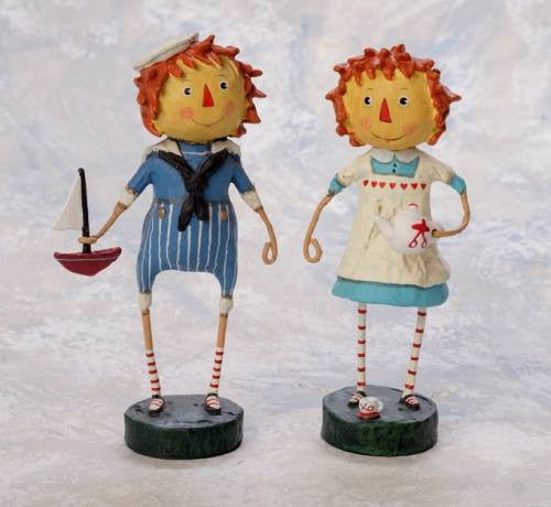 Lori Mitchell Raggedy Ann & Andy Figurines