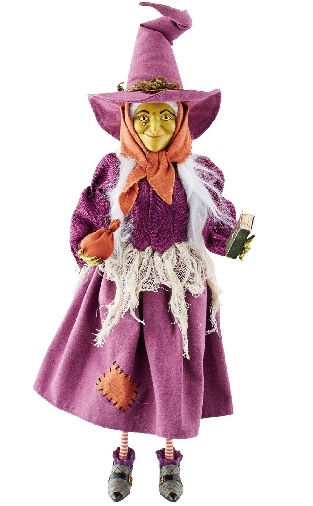 Lucy the Cat Witch Figurine in purple dress