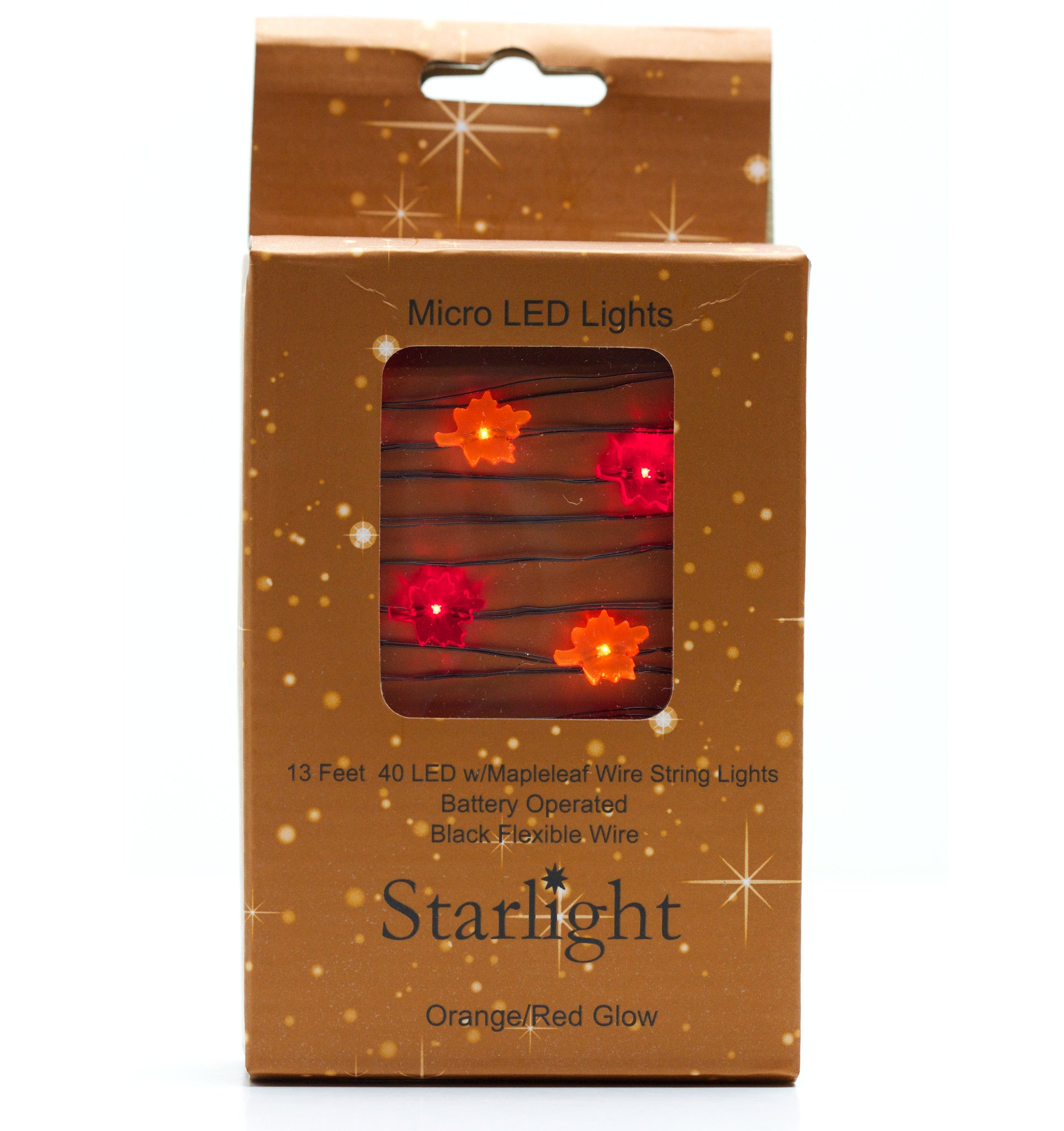 Maple Leaf LED Lights - Battery Operated