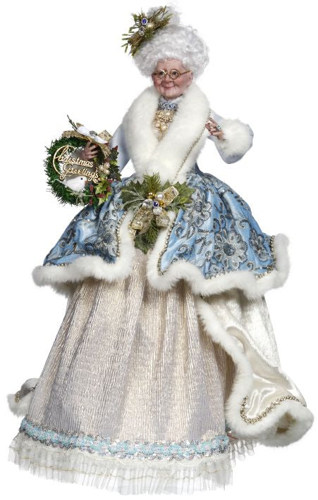 Mark Roberts Elegance of Mrs. Claus Blue & White Tabletop figures