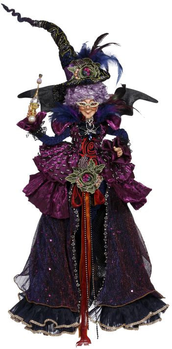 Mark Roberts Halloween Princess Witch - Large Purple Statement Piece