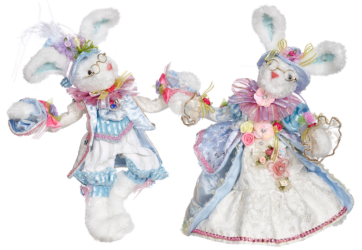 Mark Roberts Mr. & Mrs. Cottontail Bunny Rabbits