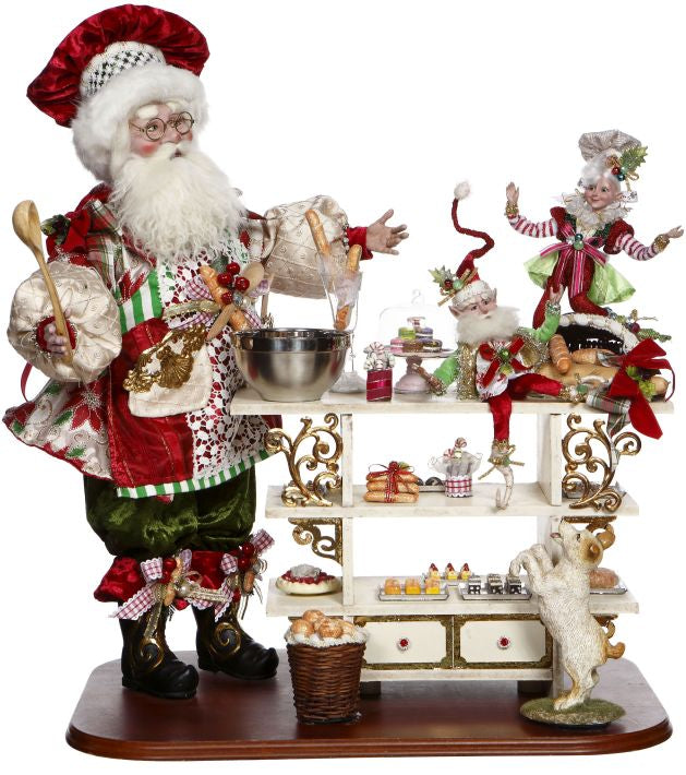 Mark Roberts Santa's Kitchen - Baking Santa Claus with Elves