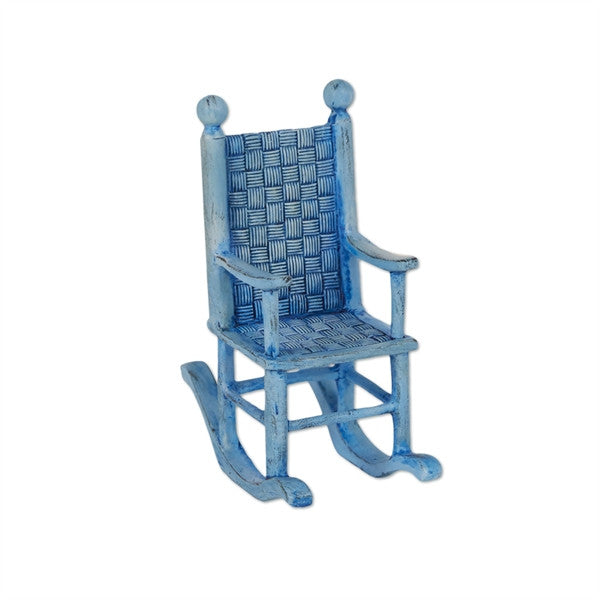 Mary Engelbreit Mini Blue Rocking Chair