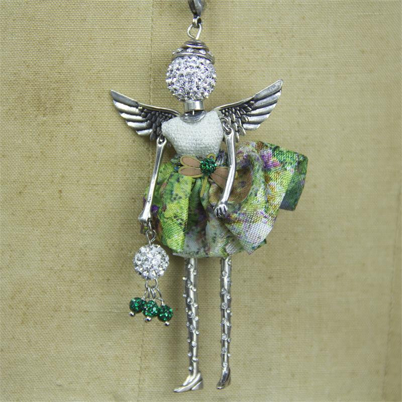 Emerald Angel Necklace