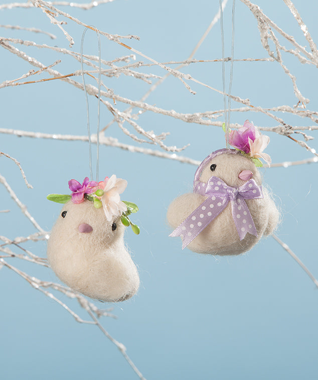 Mazy and Zoe Easter Chick Ornaments