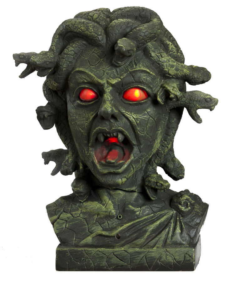 Medusa Animated Bust with Snakes - Halloween Prop