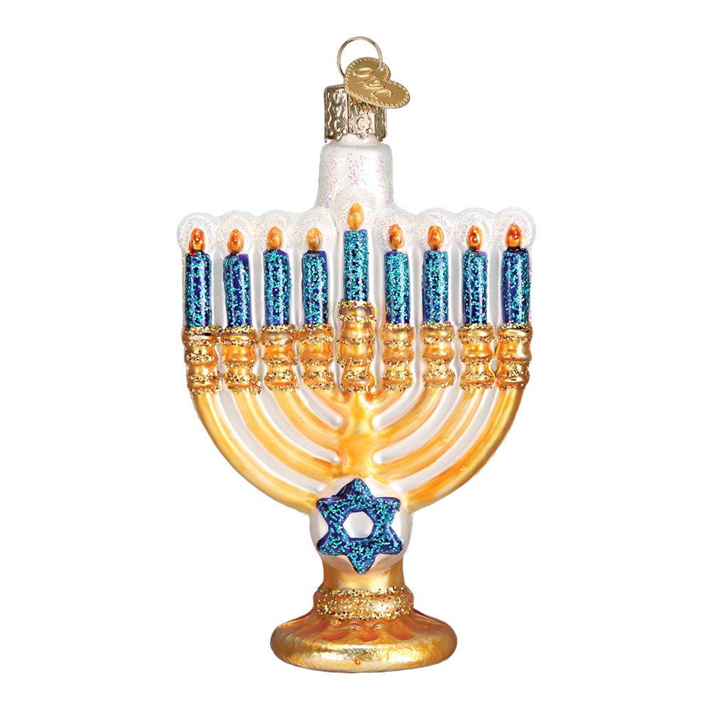 Menorah Ornament - Hanukkah Festival of Lights Ornaments