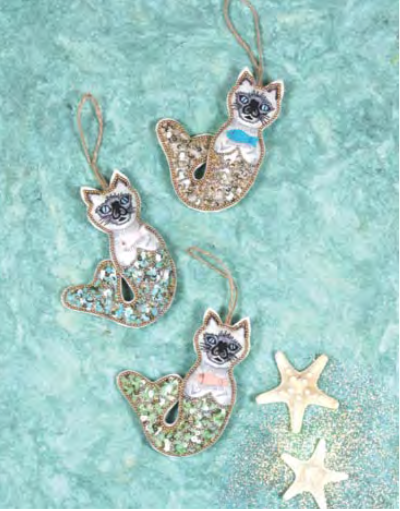 Mermaid Cat Ornaments