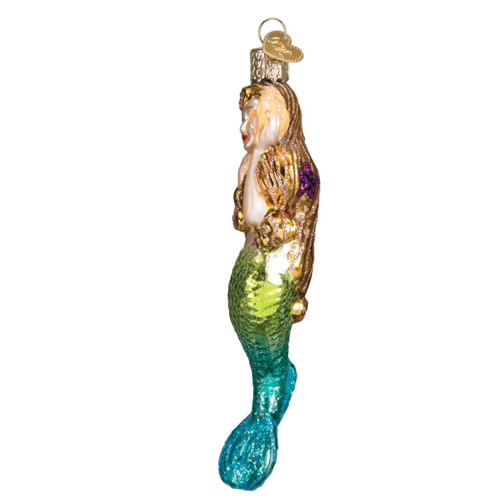 Glass Mermaid Ornaments - Sideview