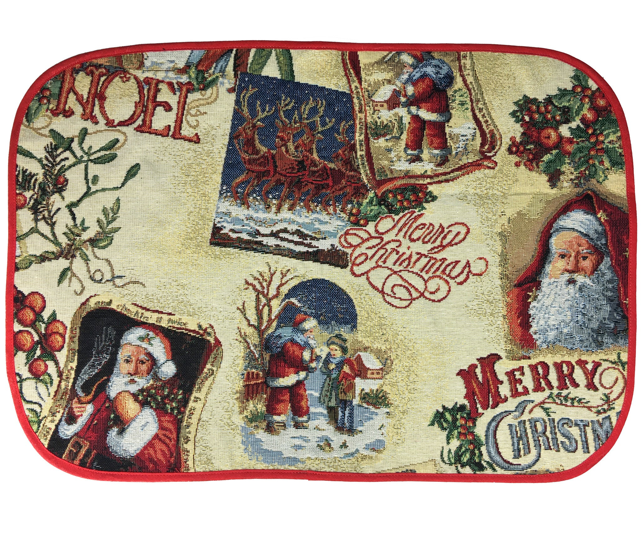 Merry Christmas Tapestry Placemats from Germany - Set of 6