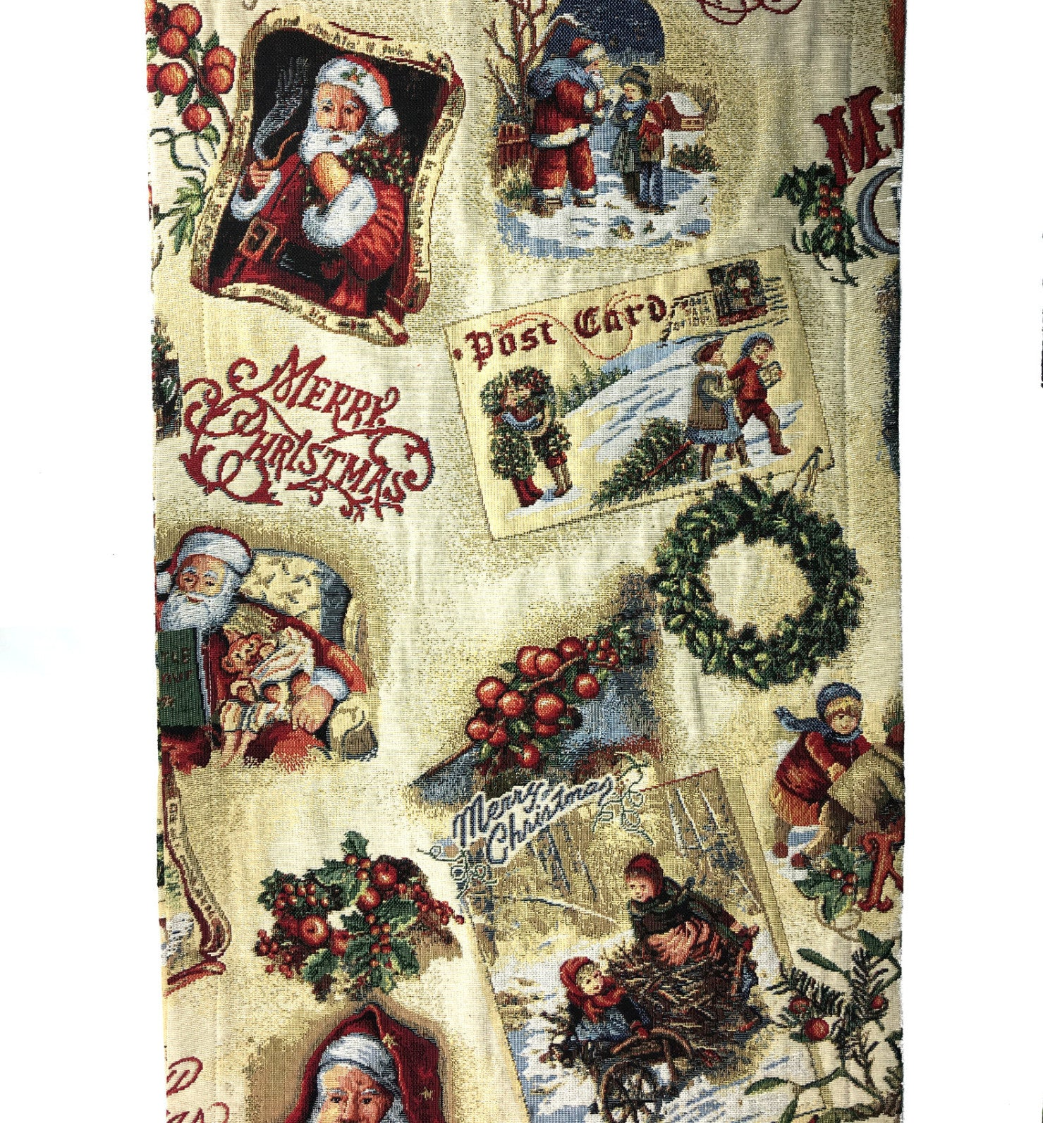 Merry Christmas Tapestry Table Runner made in Germany