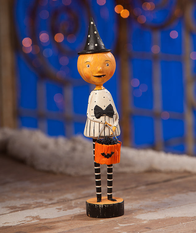 Trixie Pumpkin Girl Figurine by Michelle Lauristen