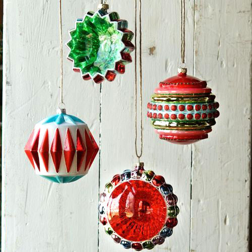 mid century modern christmas ornaments reflectors