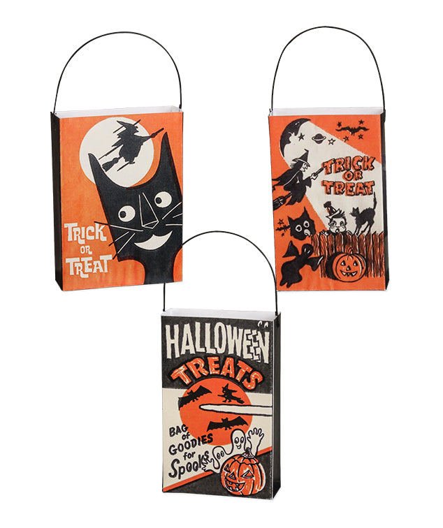 Retro Trick or Treat Bag Ornaments
