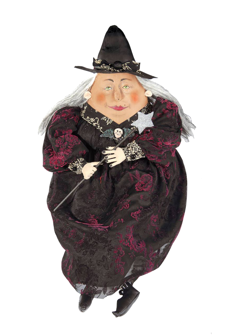 Minerva Witch Joe Spencer Cloth Halloween Doll
