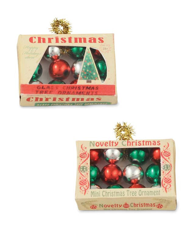 mini christmas ornament box ornaments bethany lowe - Mini Christmas Tree Ornaments