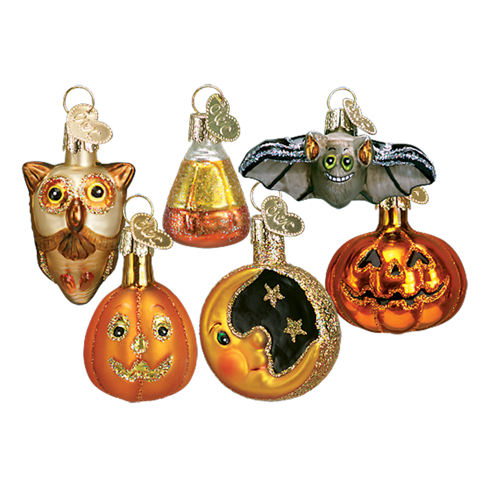 Mini Glass Halloween Ornaments by Old World Christmas