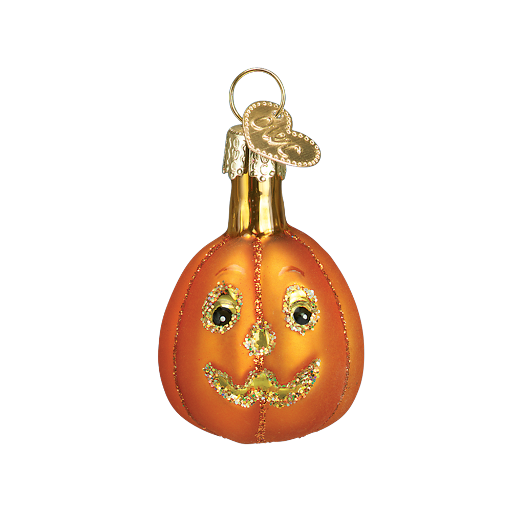 Mini Glass Jack-O-Lantern Ornament