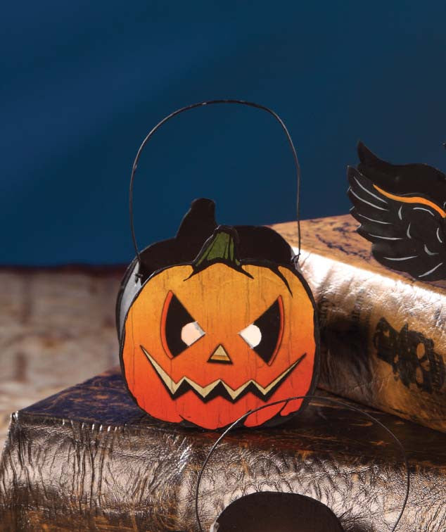 Mini Spooky Jack-O'-Lantern Tin Bucket