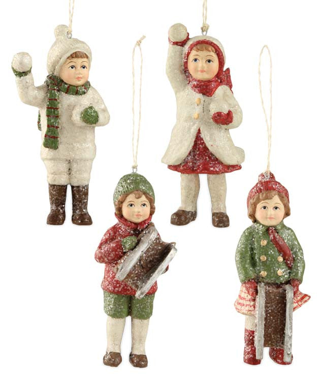 Mini Traditional Snow Child Ornaments - Bethany Lowe Christmas