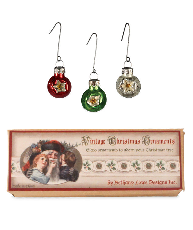 Mini Traditional Indent Christmas Ornaments for Mini Trees