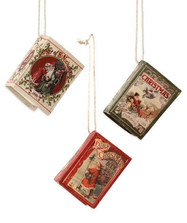 Bethany Lowe Mini Christmas Book Ornaments
