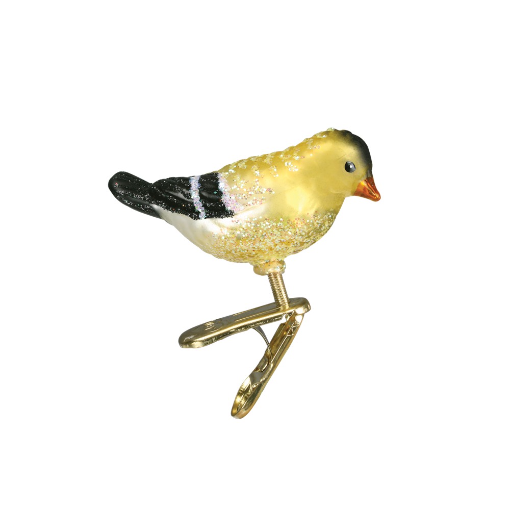 Mini Yellow & Black Bird Ornament Clip