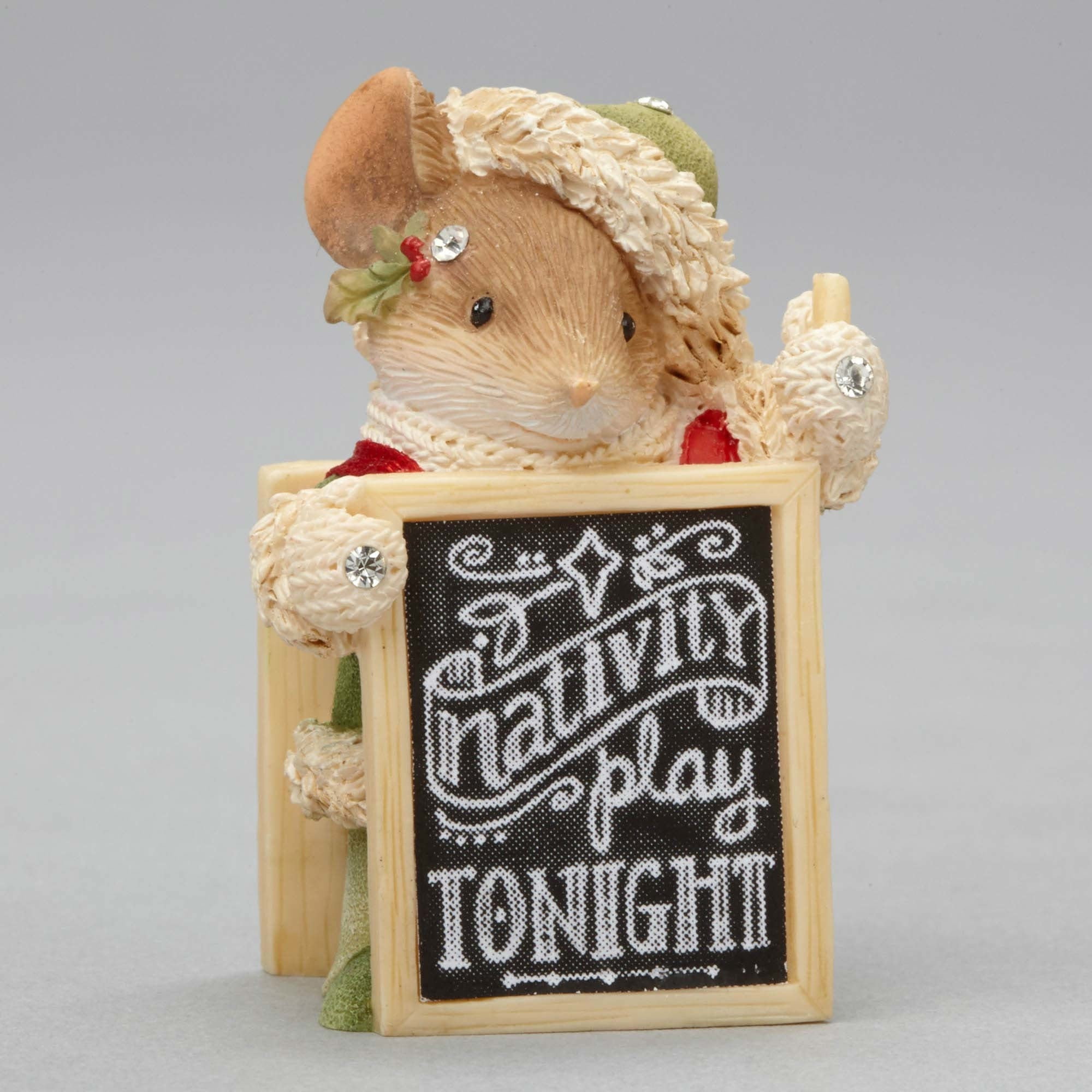 Mouse with Nativity Play Sign by Heart of Christmas