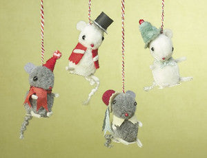 Mouse Ornaments Set of 4