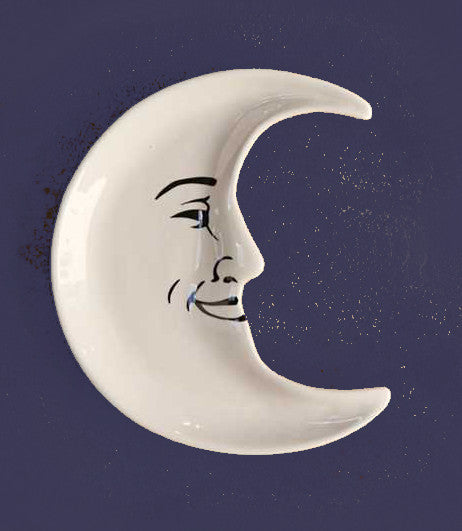 Mr. Moon Man Dishes | Man in the Moon Crescent Dish