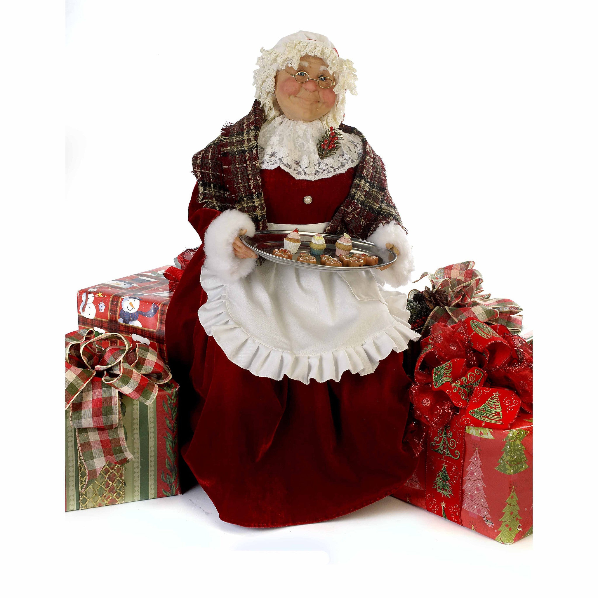Mrs. Claus With Cookies