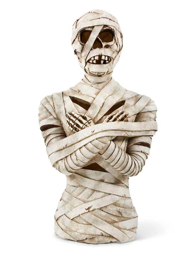 Light Up Mummy Bust Prop